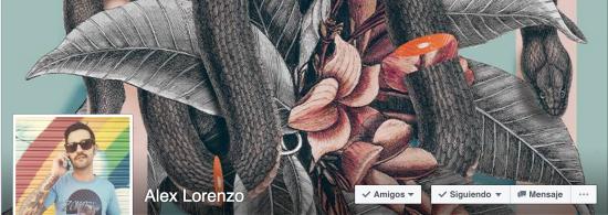 Alex Lorenzo diseñador y apasionado del collage.