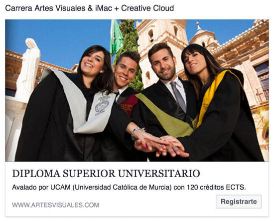 Carrera Universitaria Artes Visuales & iMac y Creative Cloud 2015