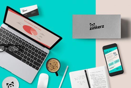 Identidad ZINKERZ, realizada por la agencia Morillas