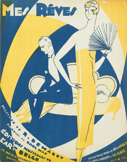 'Mes Rêves,' cubierta de la partitura, 1926.
