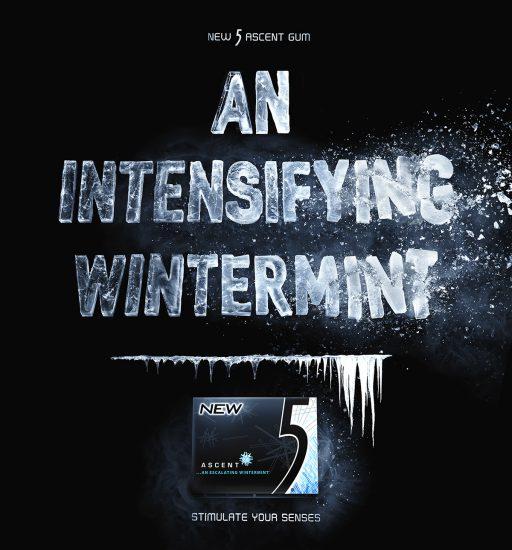 ASCENT WINTERMINT GUM, publicidad