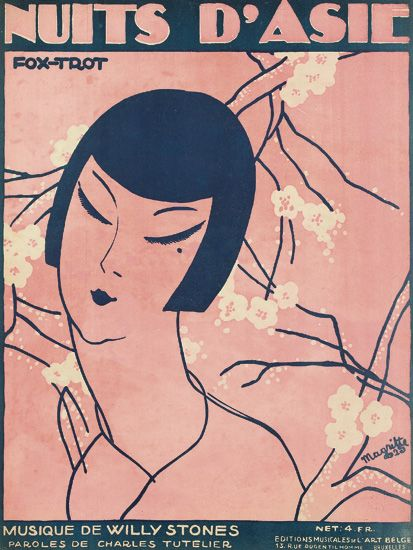 Nuits D'Adie / Fox - Trot. cubierta de la partitura (1925)