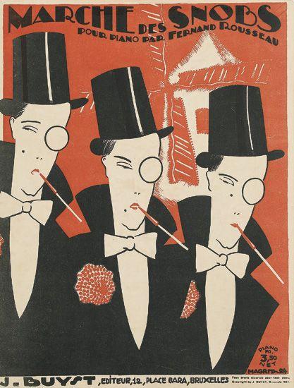 'Marche des snobs,' cubierta de la partitura (1924).