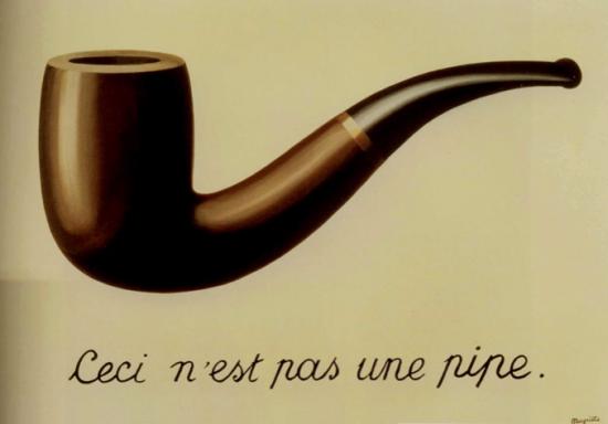 """Ceci n'est pas une pipe, es de la serie de imágenes """"La traición de las imágenes"""""""