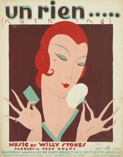 "'Un Rien ... (Nada), ""cubierta de la partitura (1925)"