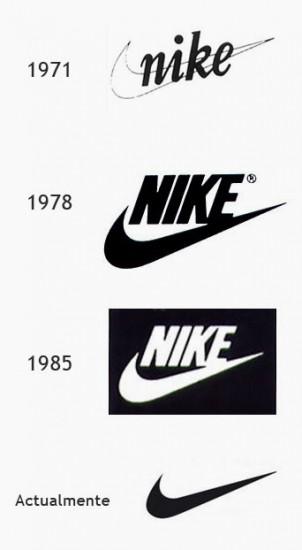 Evolución del logo de Nike