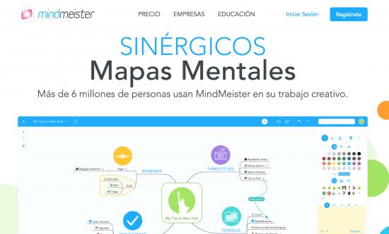 Mindmeister, una de las herramientas que podemos usar