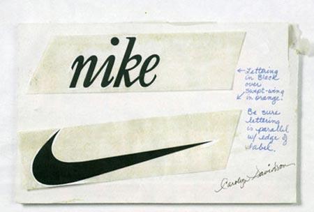 Boceto de logo de Nike