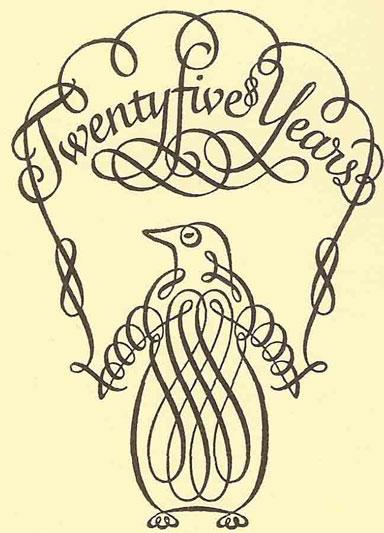 Caligrafía para el 25 aniversario de Penguin Books
