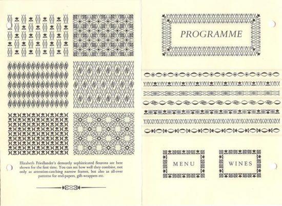 Diseños de Elizabeth Friedlander