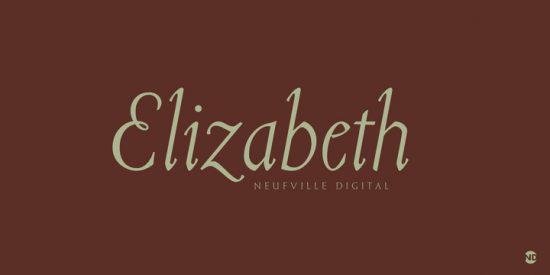 Tipografía Elizabeth