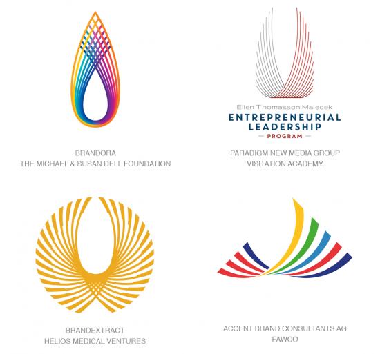 Tendencias en logomarcas, Tendencia de líneas con forma de alas