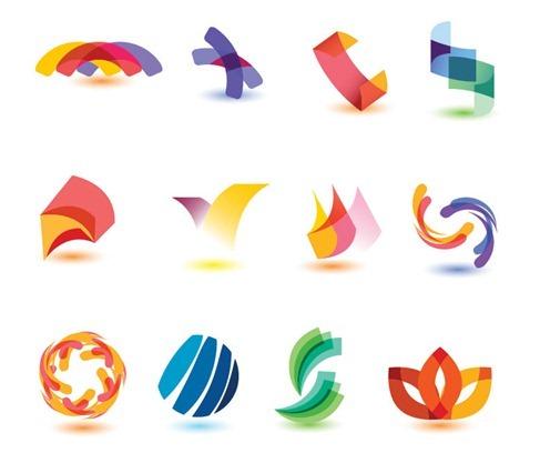 Símbolos basados en el color y formas 2D y 3D