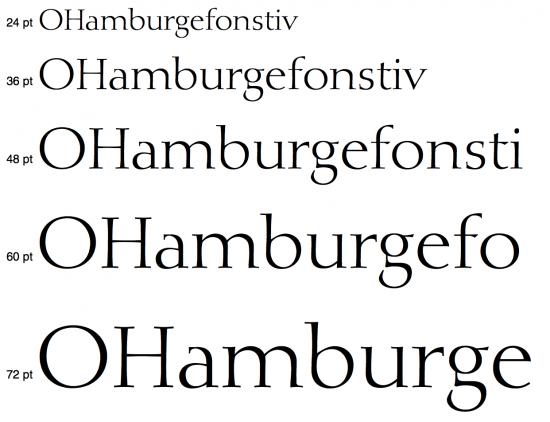 Tipografía Diotina regular