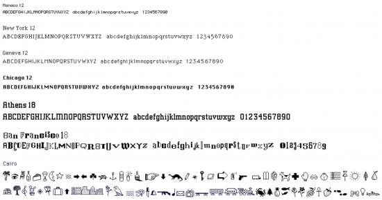Tipografías para Apple de Susan Kare