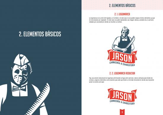 """Manual de identidad corporativa """"JASON, Carnicería & Charcutería"""" realizada por nuestro alumno Miguel Angel Lucha Márquez"""