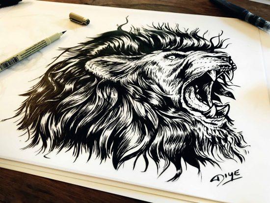 DIYE representa a Messi como un león