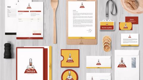Manual de identidad «Senza» Pizzería artesanal