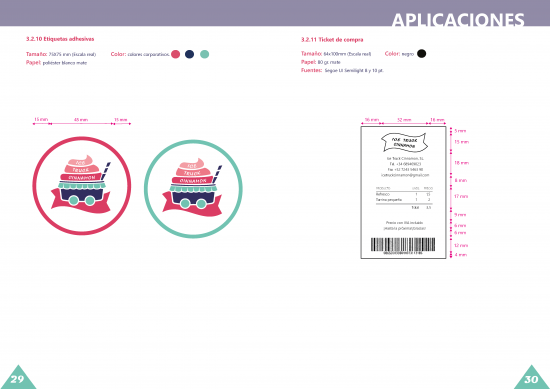 Aplicaciones, etiquetas y tickets
