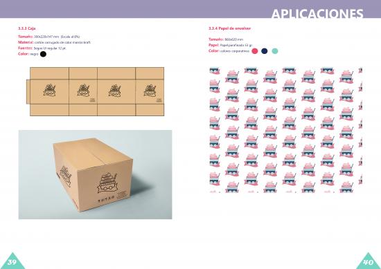 Aplicaciones, caja y papel