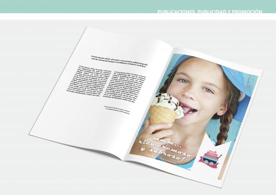 Publicaciones, publicidad y promoción. Anuncio