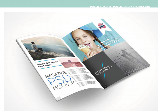 Publicaciones, publicidad y promoción. Anuncio media página