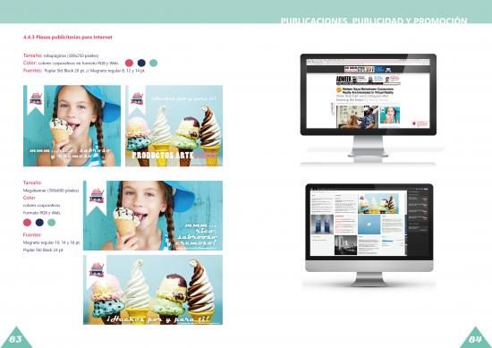 Manual de identidad, publicaciones, publicidad y promoción. Estefania Moreno
