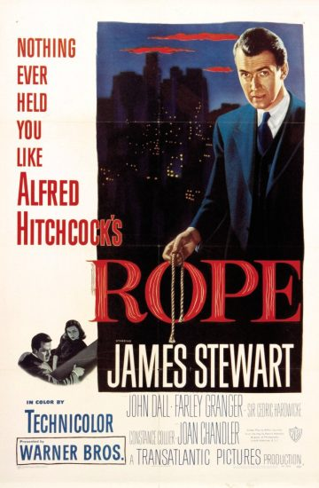 Rope, La soga, 1948. Alfred Hitchcock