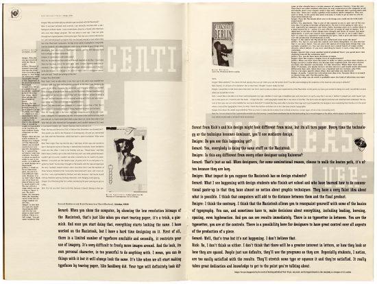Páginas de la revista Emigre