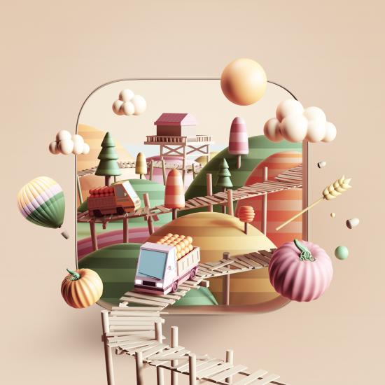 Pequeños universos 3D por los que perdernos como los creado por Peter Tarka