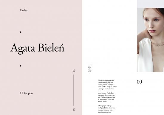 Veremos muchos diseños en donde la colocación de la información difiere de la habitual. Agata Bielen.