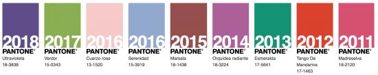Colores Pantone de otros años