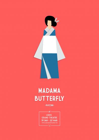 """Cartel para ópera """"Madama Butterfly"""" de Mario Tuzón"""