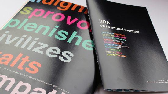 Folleto con el manifiesto de diseño de IIDA