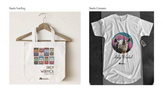 Bolsa y Camiseta para exposición. Diseño Ana Arnal