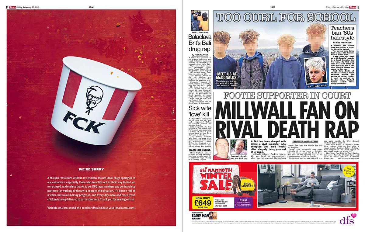 "KFC, ""FCK"", una forma magistral de gestionar una crisis"