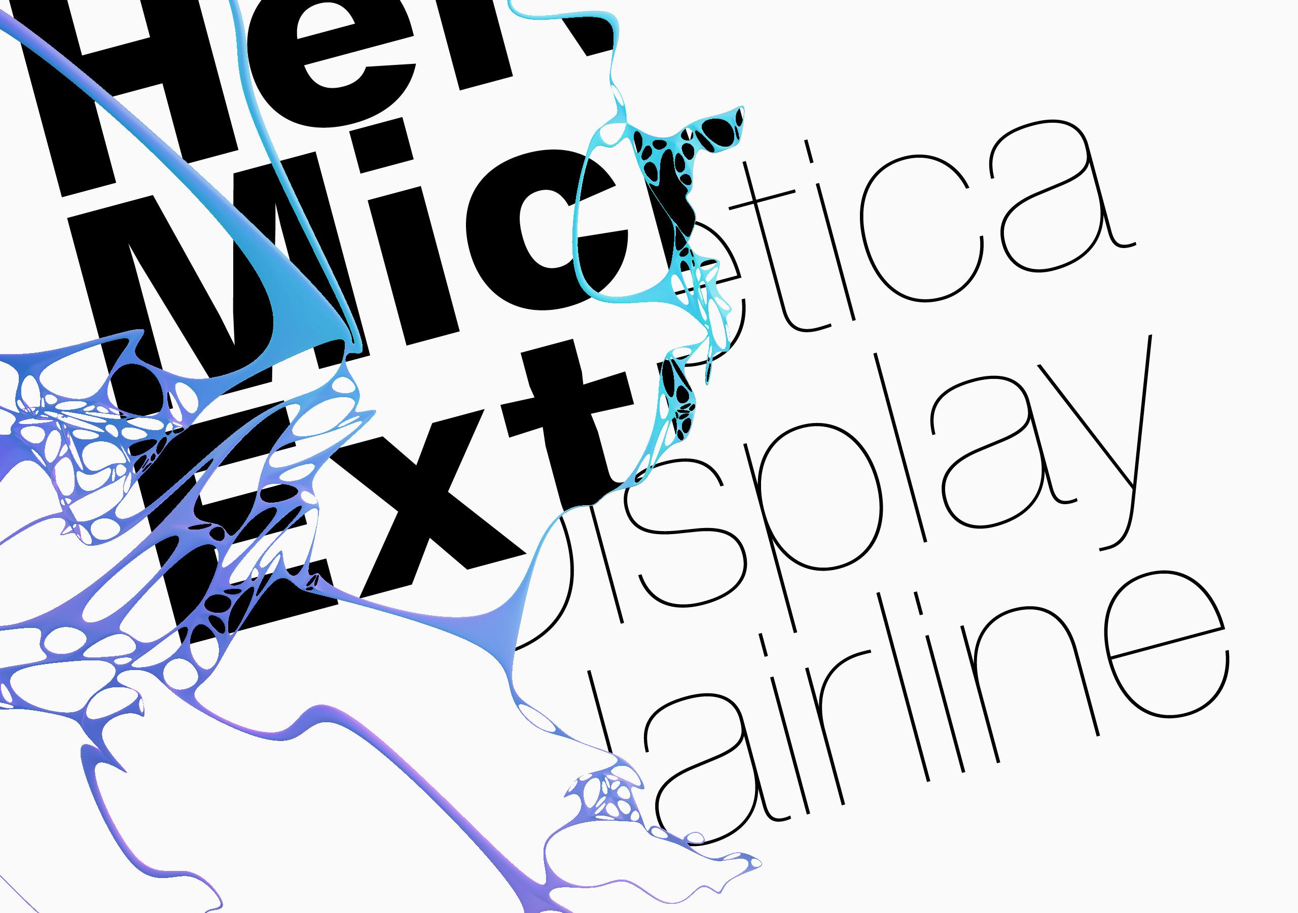 Rediseño de la Helvetica para conseguir su versatilidad