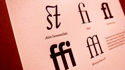 Ligaduras tipográficas