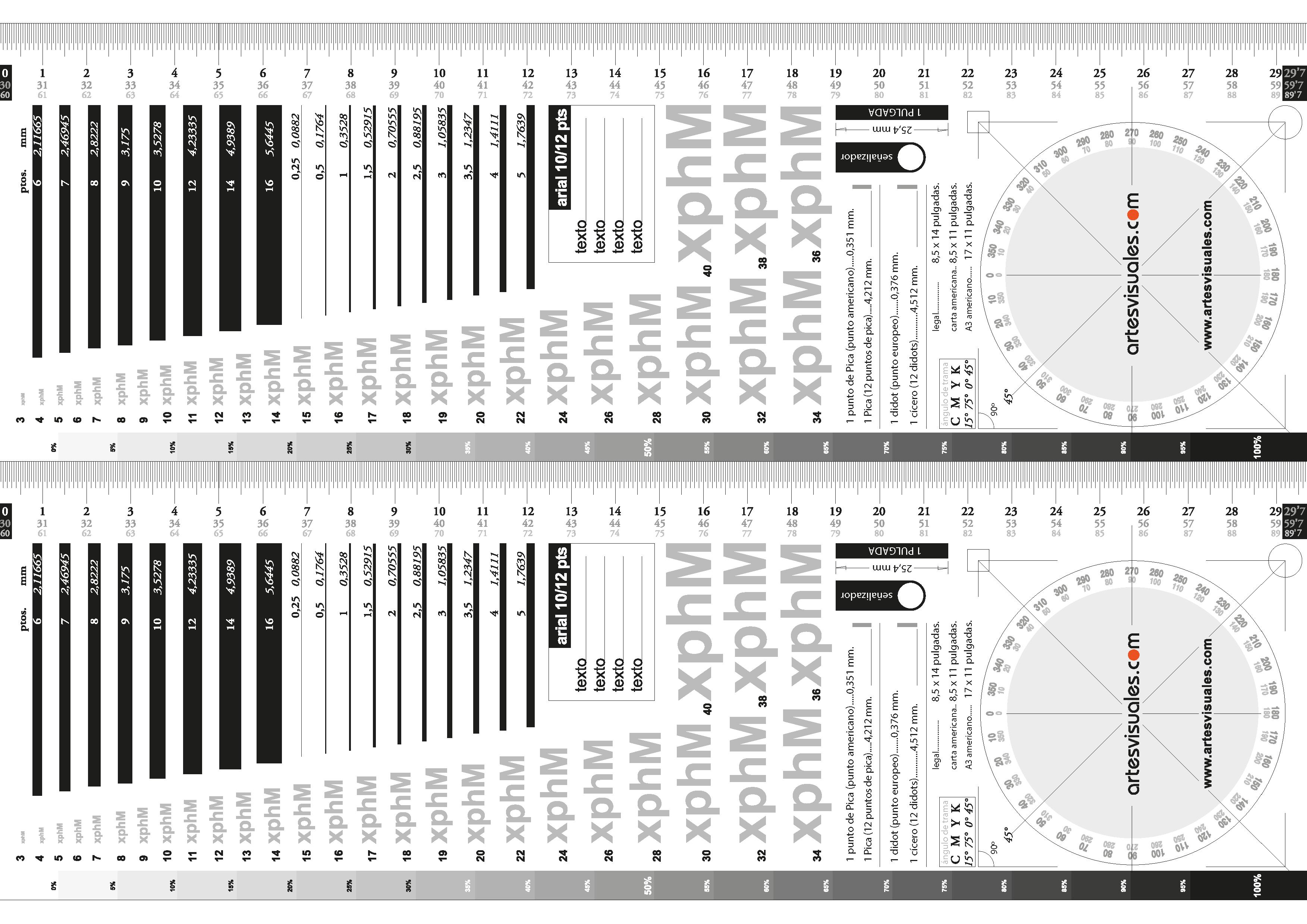 Tipómetro IAV, artesvisuales.com