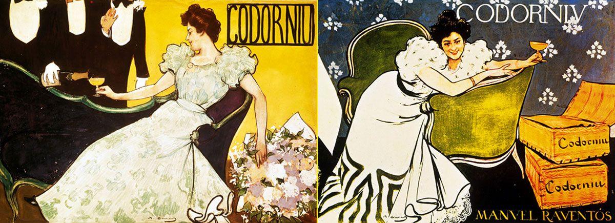 Carteles modernistas de Ramón Casas para Codorniu
