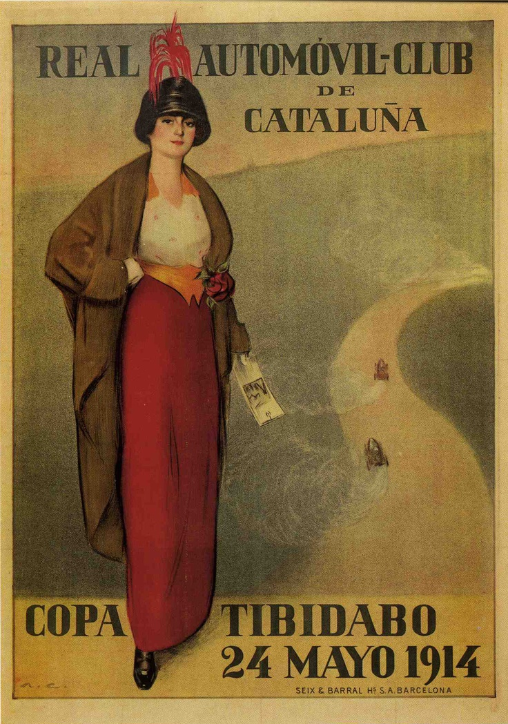Cartel de Ramón Casas para el Real Automovil-club de Cataluña
