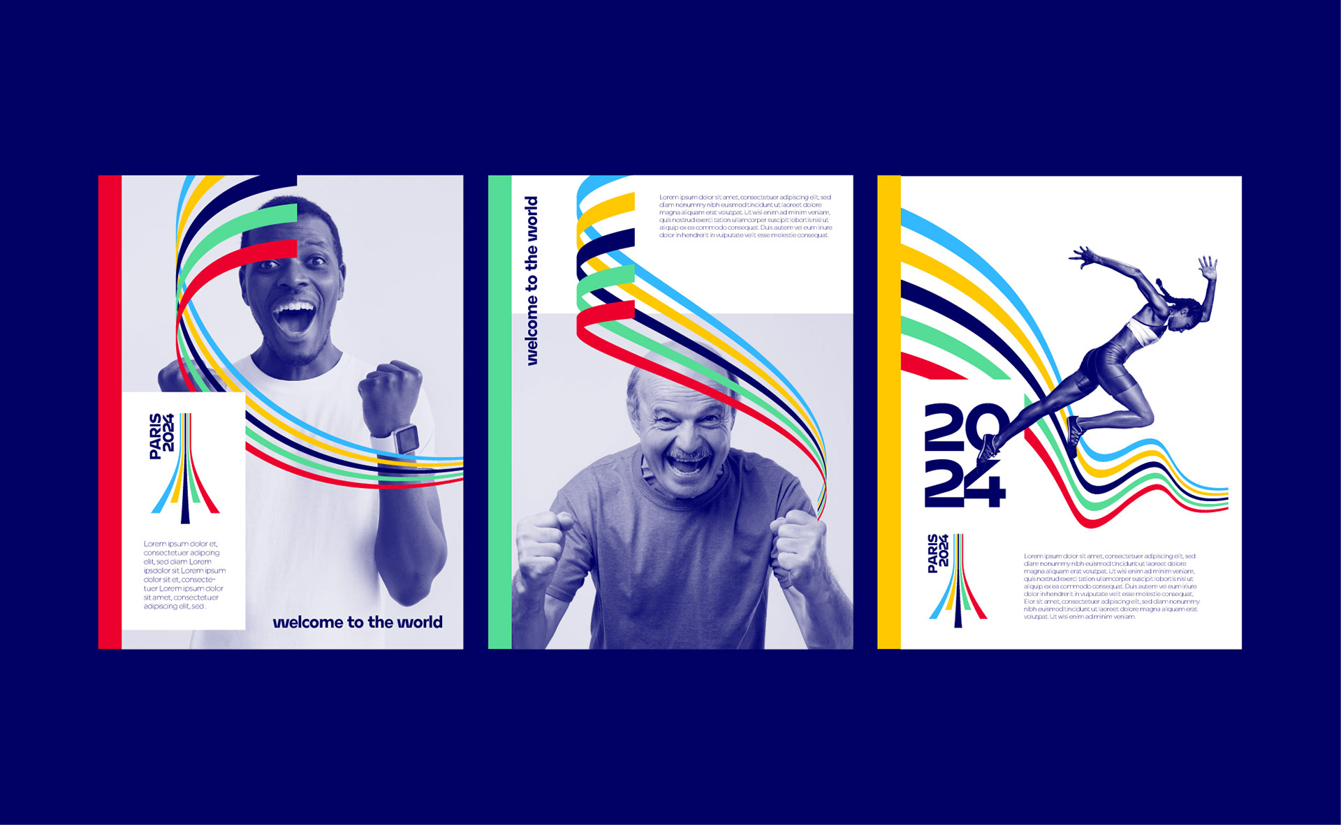 Paris 2024 Olympic Games - Brand design Graphéine