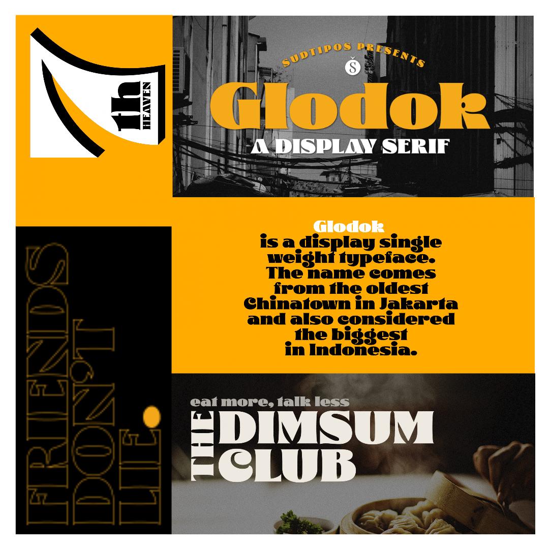 Glodok es una tipografía display de un solo peso