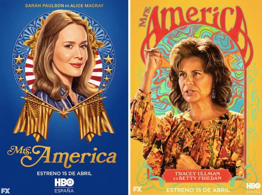 Mrs. America: Sarah Paulson (Alica Macray) Tracey Ullman (Betty Friedan)