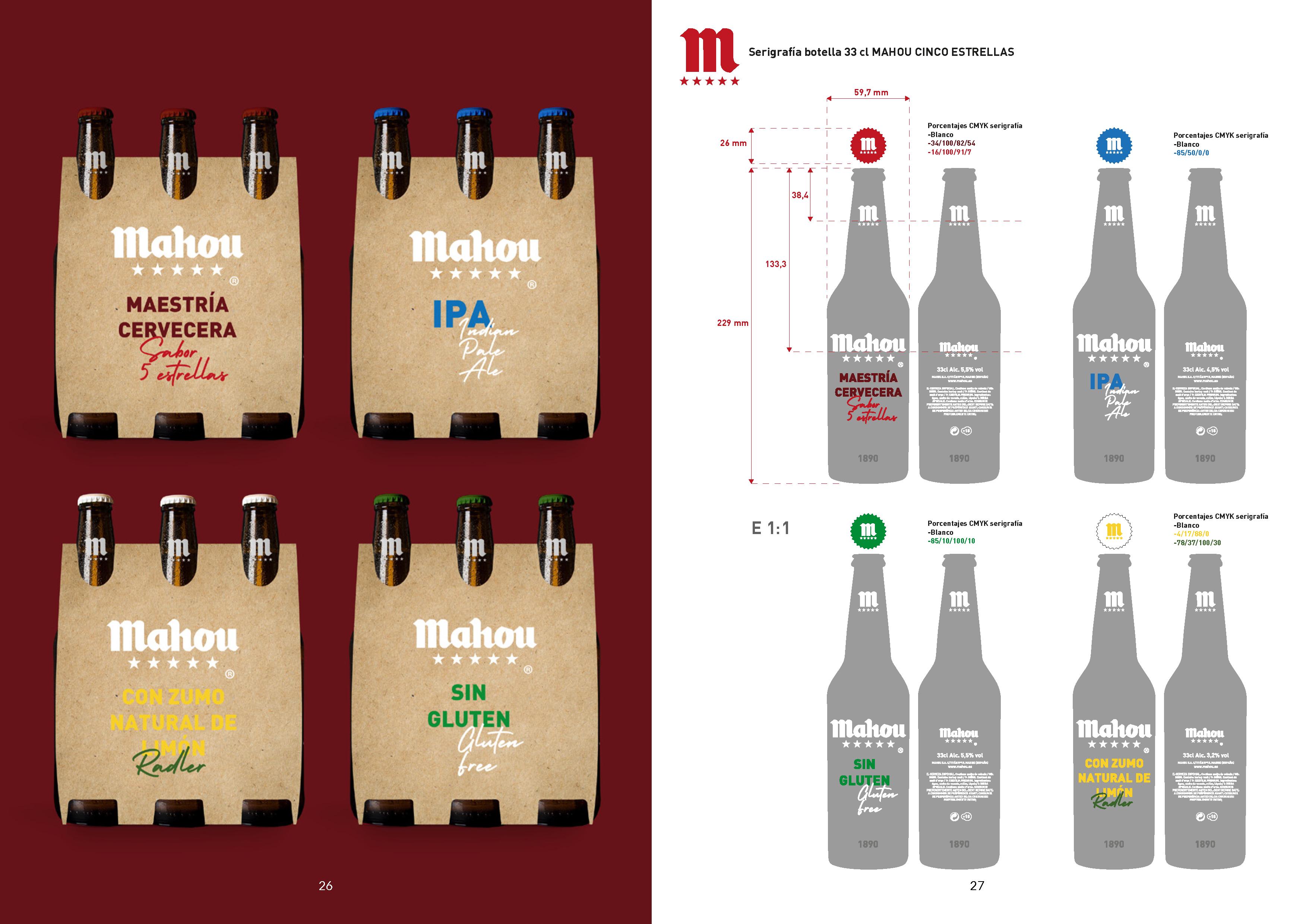 Mahou 5 Estrellas, re-diseño de Packaging