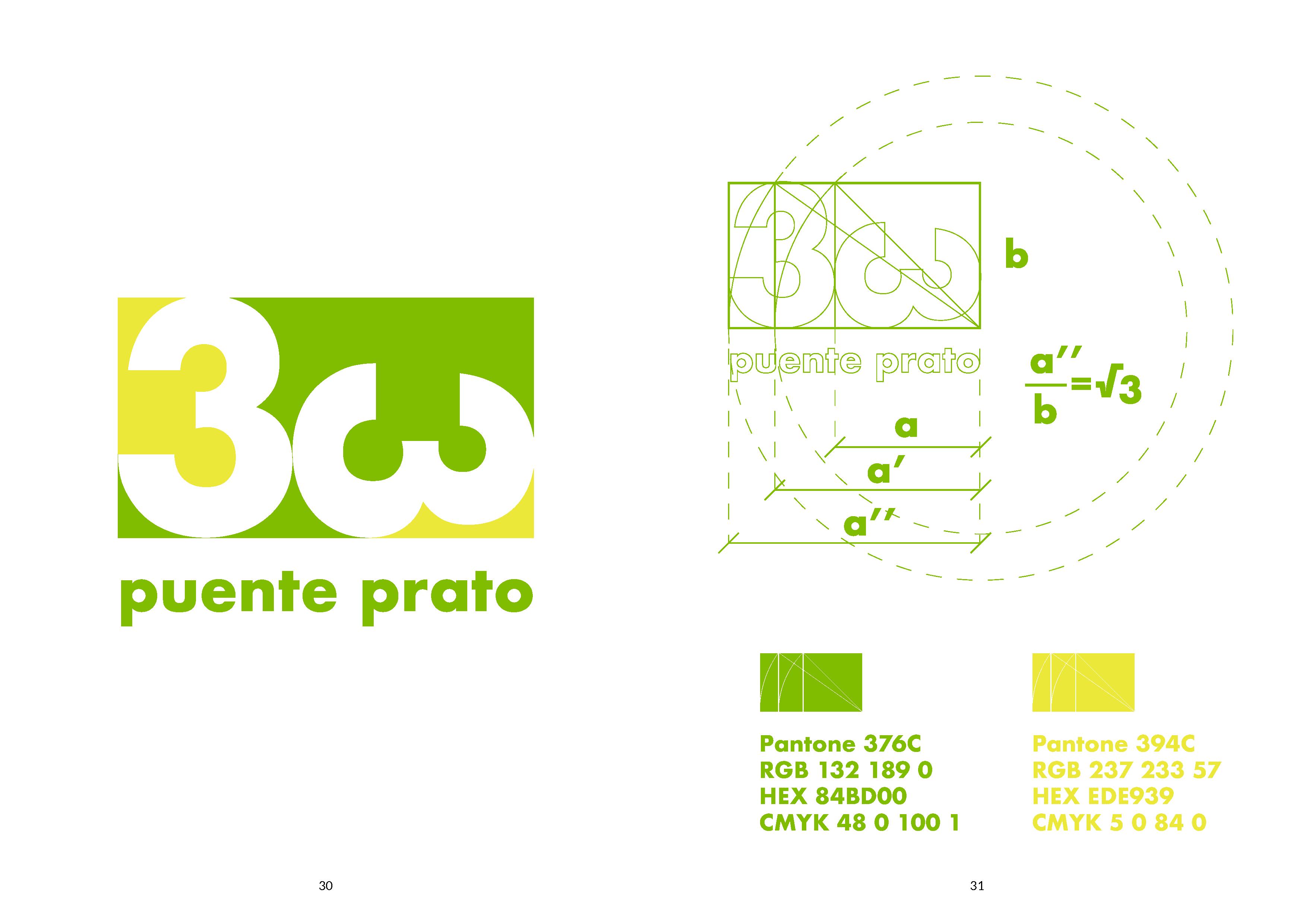 33 Puente Prato, diseño de logotipo