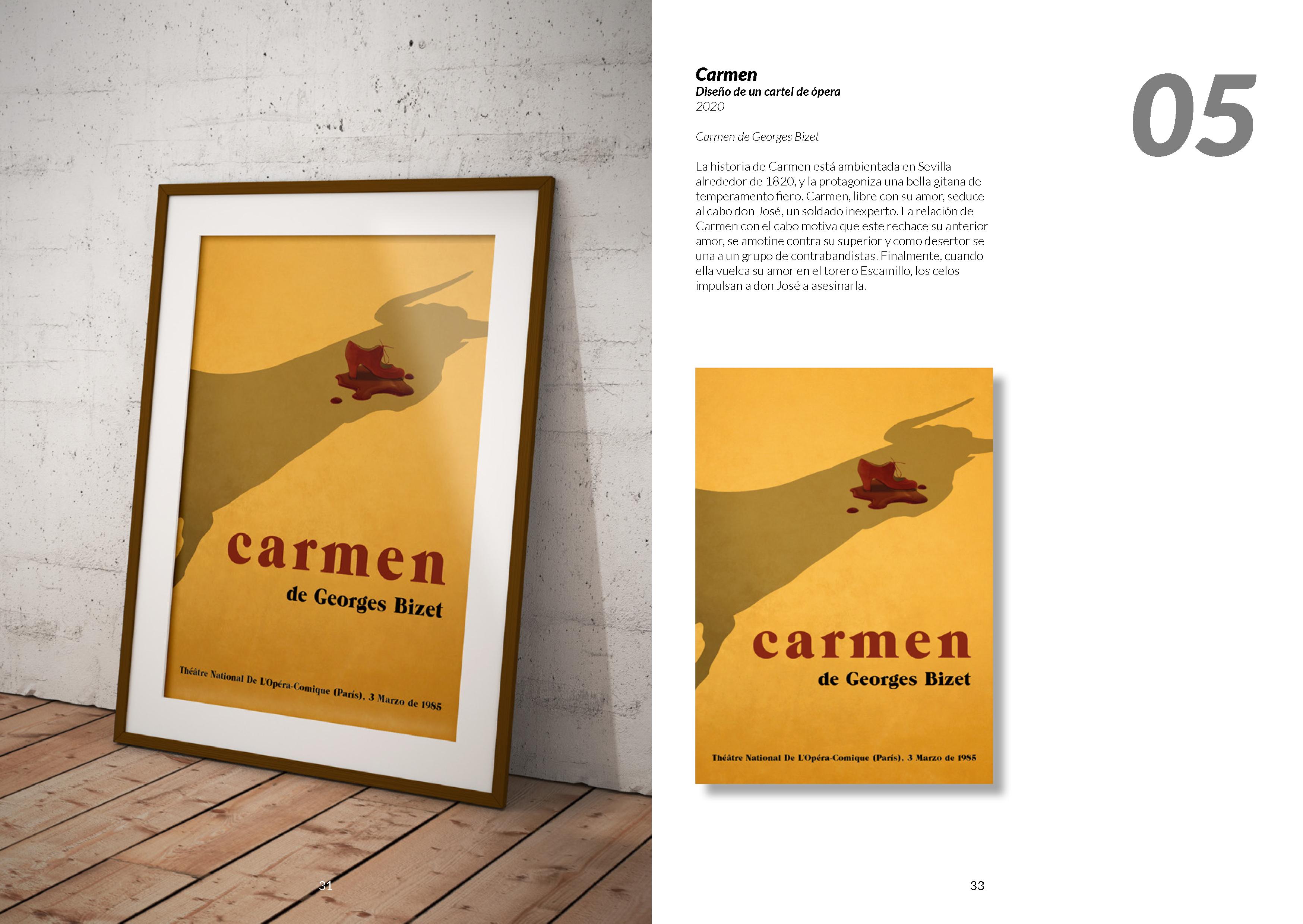Carmen, diseño de un cartel de ópera