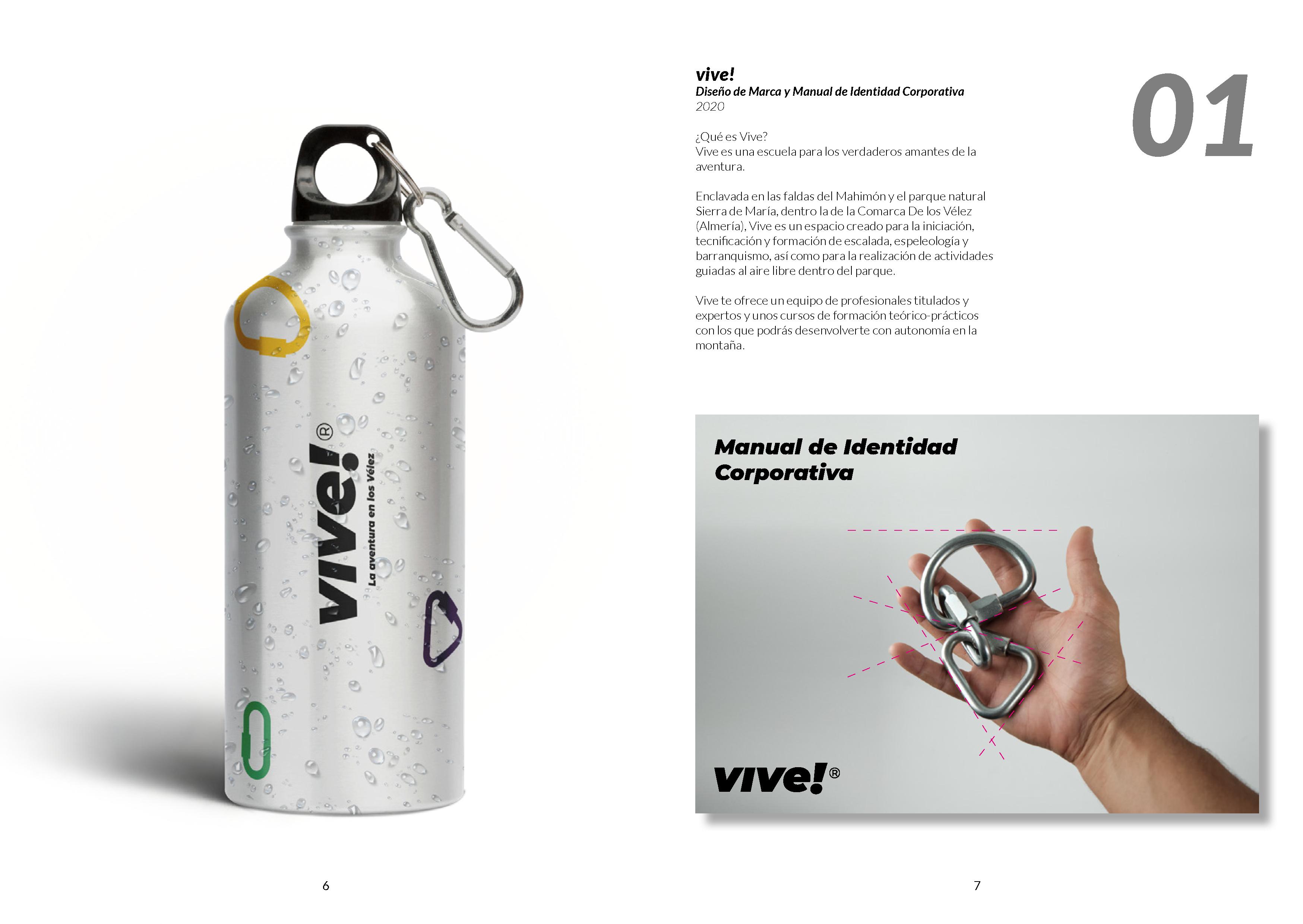 vive! Diseño de Marca y Manual de Identidad Corporativa