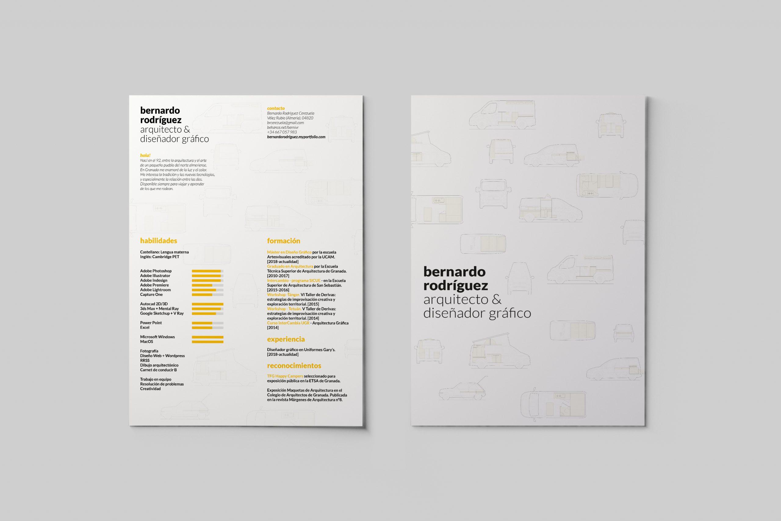 Curriculum Bernardo Rodríguez, arquitecto y diseñador gráfico