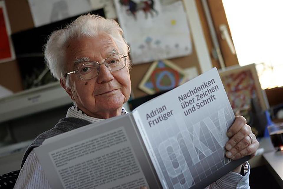 El tipógrafo Adrian Frutiger